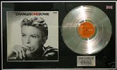 DAVID BOWIE  - Changes One LP platinum disc & cover